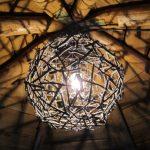 Фото 19: Делаем люстру из деревянных палочек