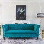 Фото 56: бирюзовый диван в интерьере