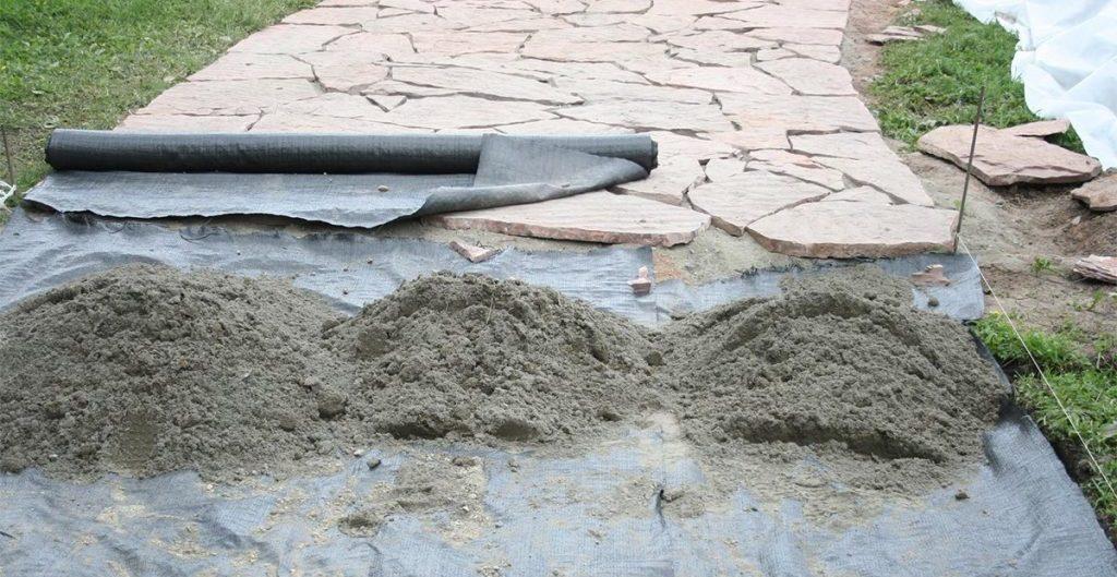 Геополотно для укладки тротуарной плитки