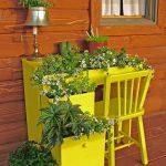 Фото 62: Старая мебель - идея для цветника