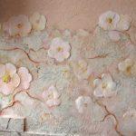Фото 27: Цветочный узор декоративной штукатурки