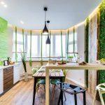 Фото 27: Освещение кухни в эко-стиле