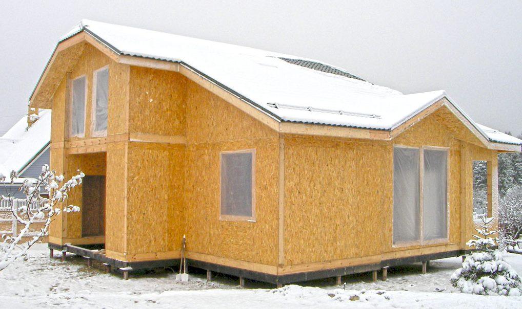 Быстрое возведение жилого дома из СИП-панелей
