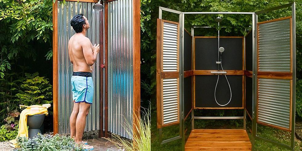 Современный душ на дачном участке