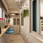 Фото 37: Дизайнерское решение отделки балкона
