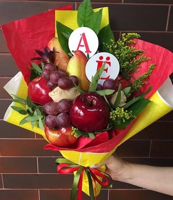 Идея для фруктового букета учителю на 1 сентября