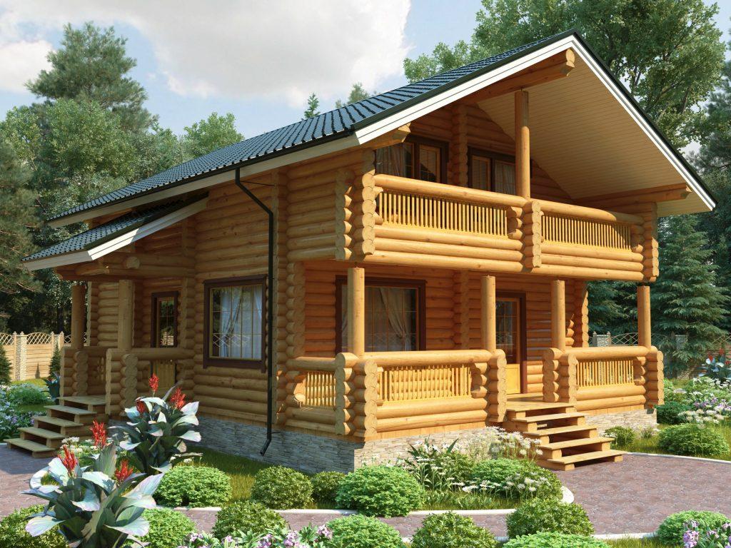 Проект деревянного дома из оцилиндрованного бревна