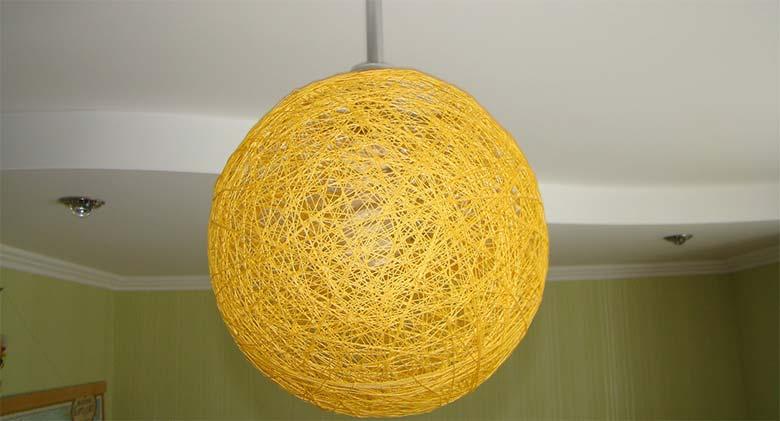 Люстра своими руками - солнечный шар