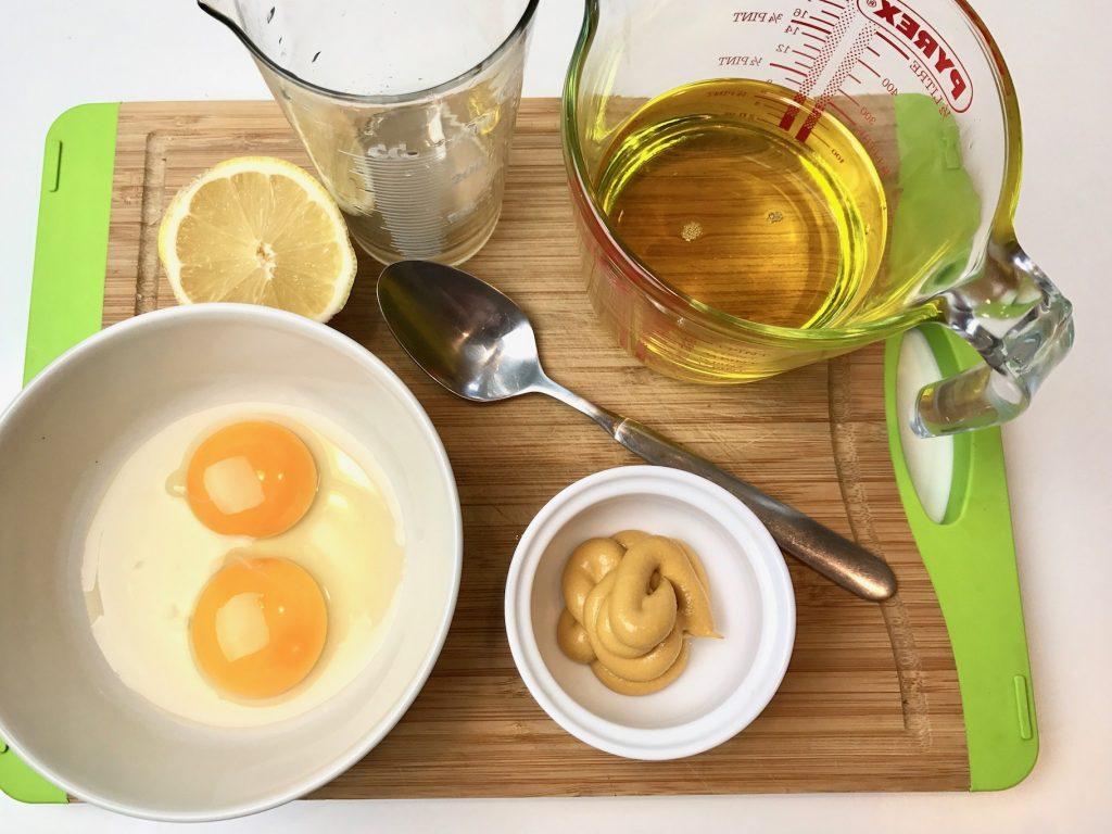 Ингредиенты для приготовления майонеза в домашних условиях