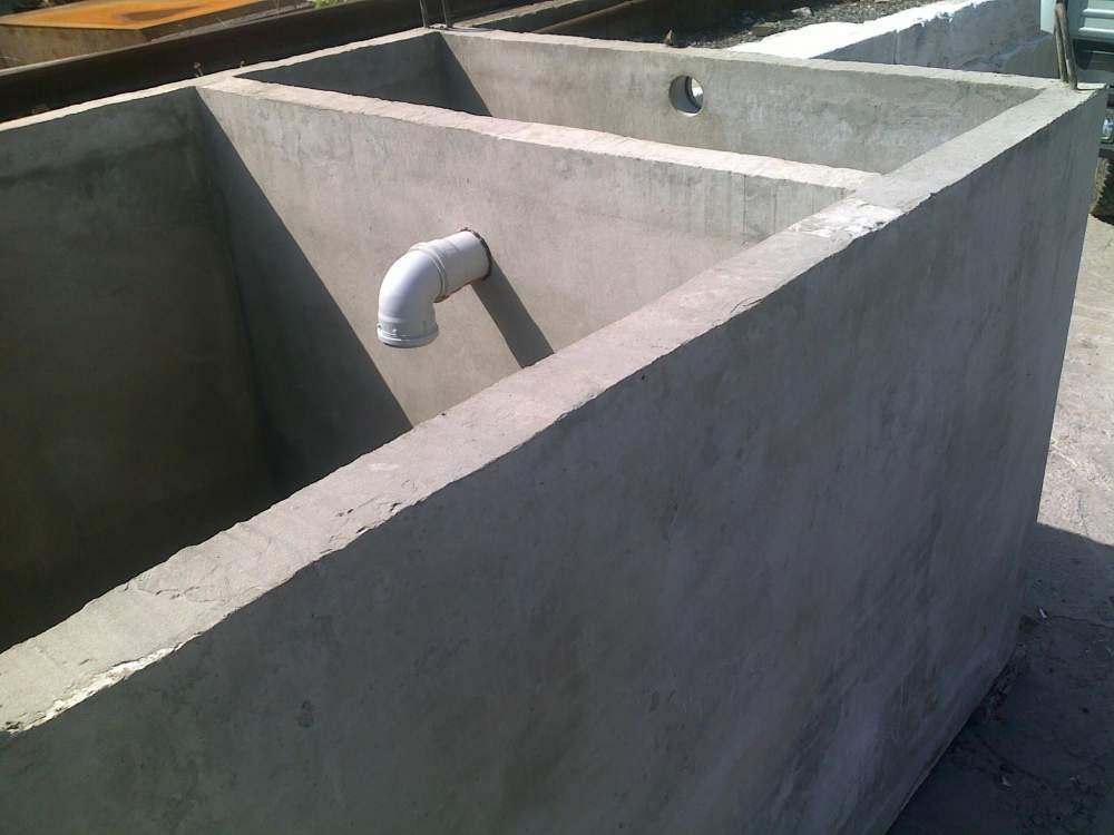 Монолитный септик из бетона