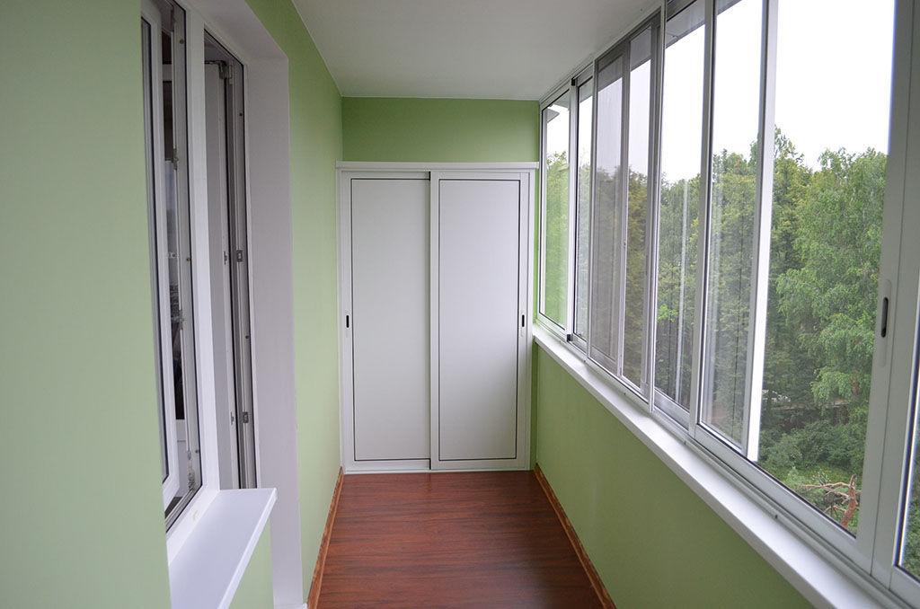 Отделка балкона шпаклевкой под покраску