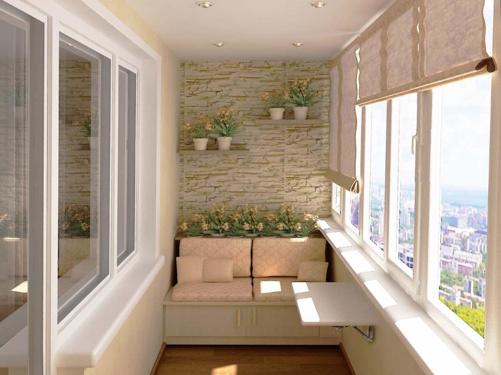 Дизайнерское решение отделки и оформления балкона