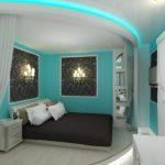Фото 65: Бирюзовые оттенки в спальне
