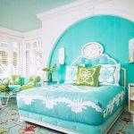 Фото 67: Бирюзовая кровать
