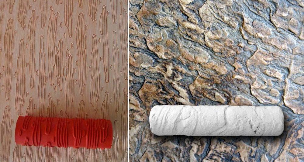 Резиновые валики для создания узора штукатурки