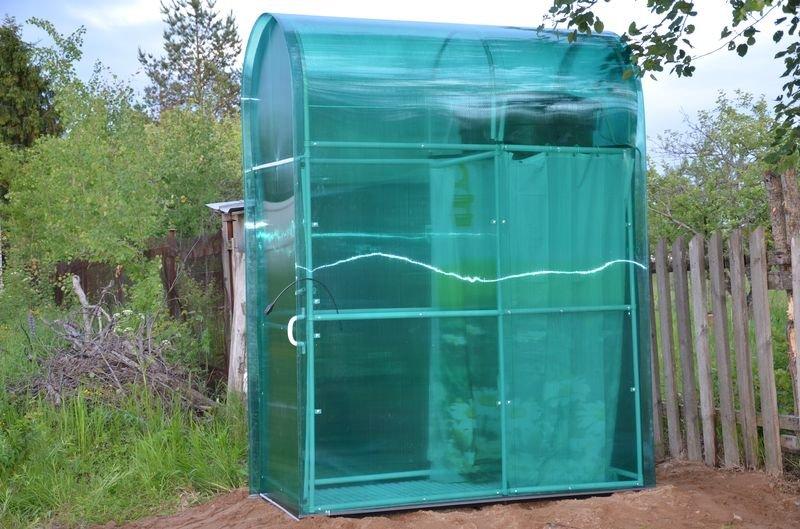 Переносная душевая кабинка из поликарбоната своими руками