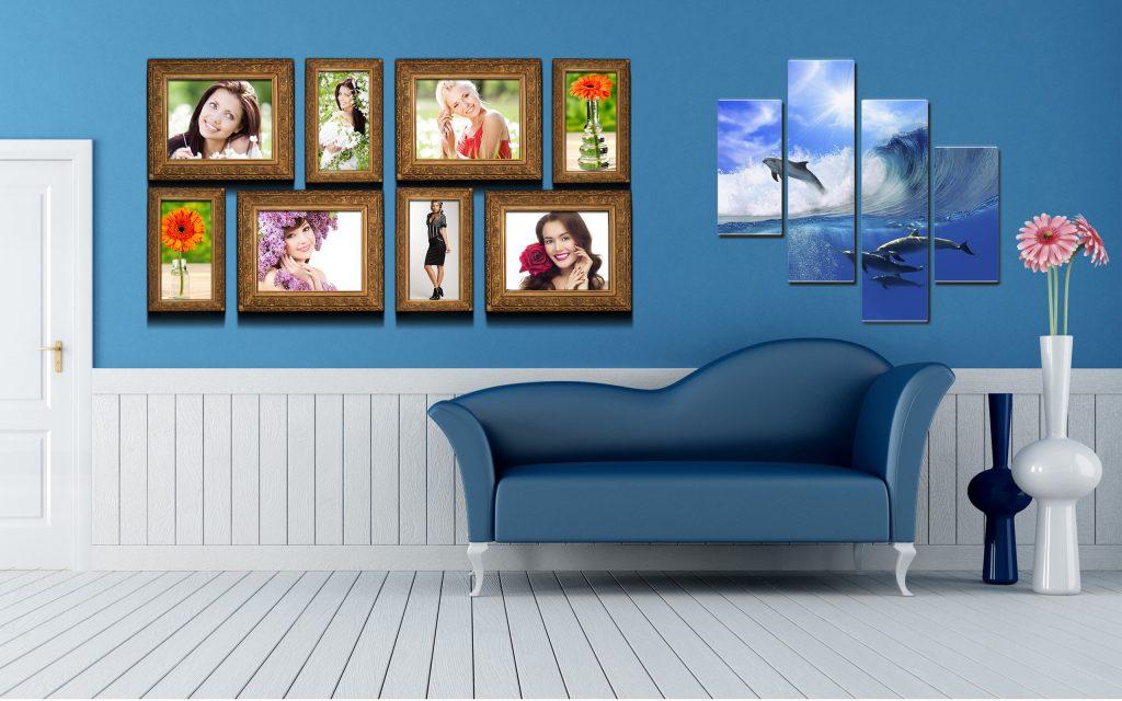 Оформление комнаты фотографиями и постерами