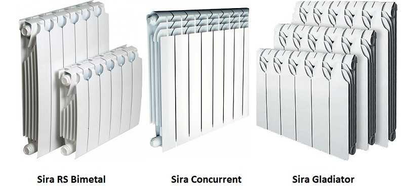 Биметаллические радиаторы Сира