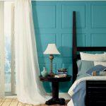 Фото 81: Бирюзовые стены в спальне