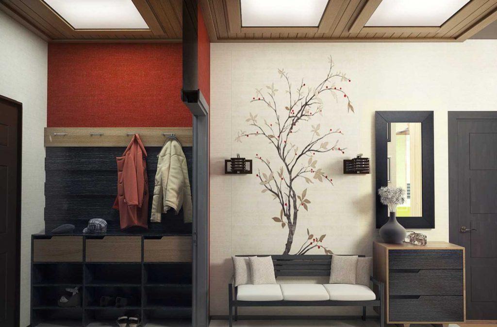 Дизайн потолка в прихожей квартиры