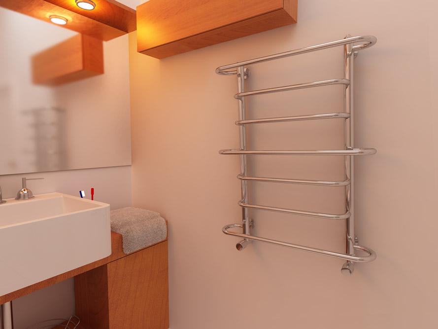 Обычная конструкция полотенцесушителя