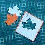 Фото 8: Листья из бумаги для открытки