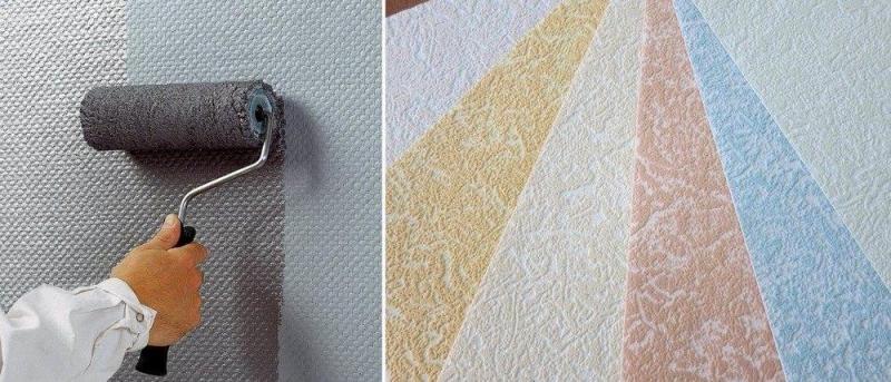 Различные способы нанесения красок на обои под покраску