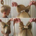 Фото 111: Прическа бантик из волос