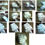 Фото 96: Бант–роза в технике канзаши