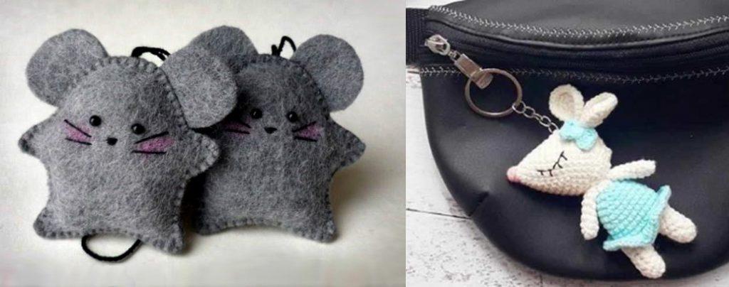 Брелки в виде мышек