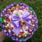 Фото 69: Вкусный букет из конфет
