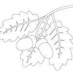 Фото 41: Трафарет Дубовая веточка