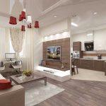 Фото 39: Совмещение кухни с гостиной комнатой