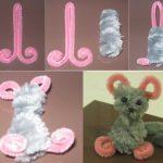 Фото 97: Мышка из сенильной проволоки