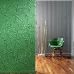 Фото 34: зеленое окрашивание стен