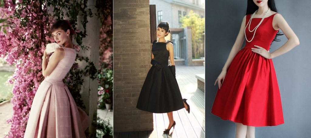 Платья в стиле Одри Хэпберн