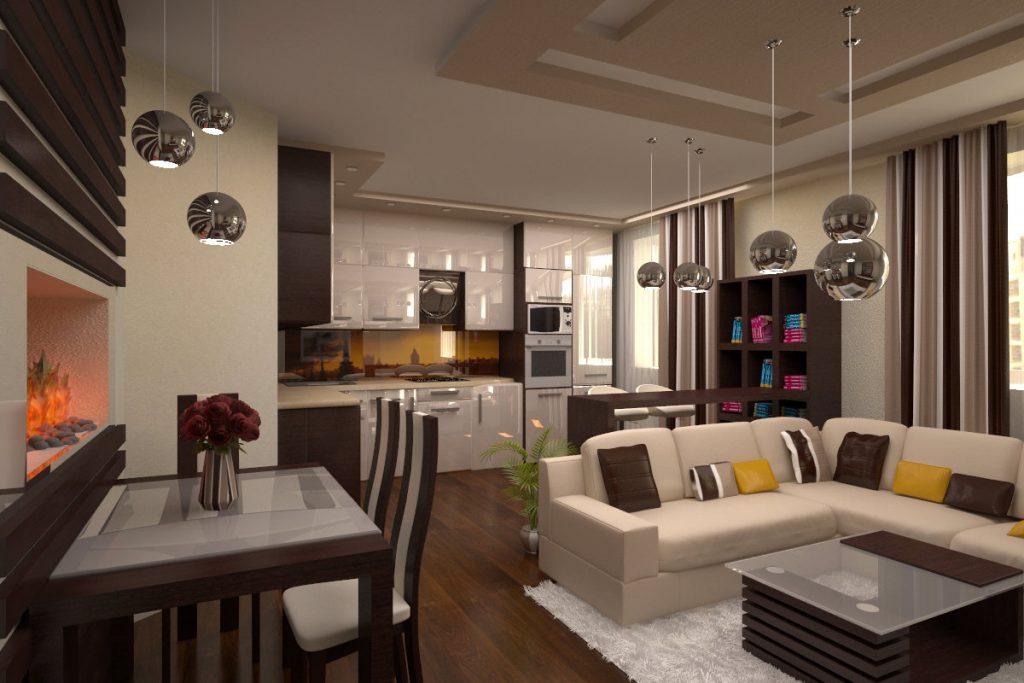 Современное дизайнерское решение в интерьере малогабаритной квартиры