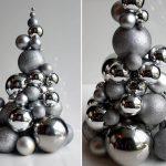 Фото 54: Елочка из металлических шаров