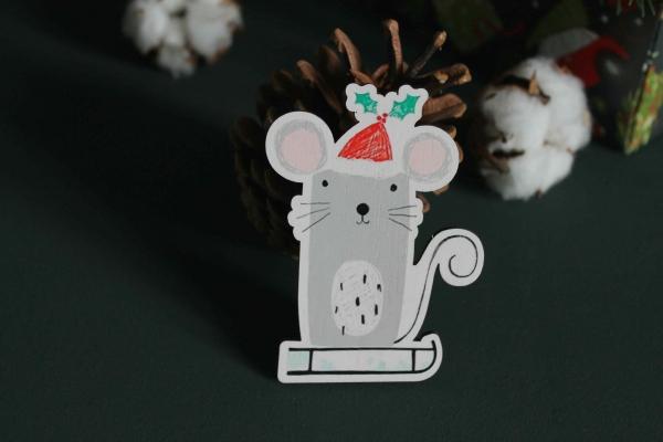Мышка на елку к Году Крысы