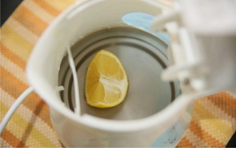 Очистка накипи лимоном