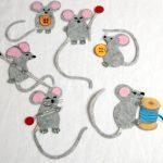 Фото 84: Мышки из фетра аппликация