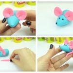 Фото 129: Простая мышка из пластилина