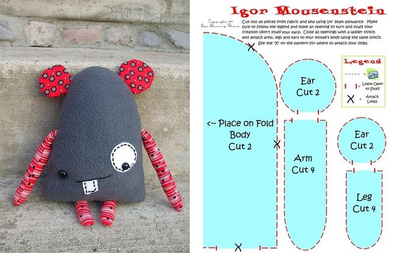 Мышка пэчворк