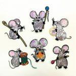 Фото 85: Мышки из пайеток