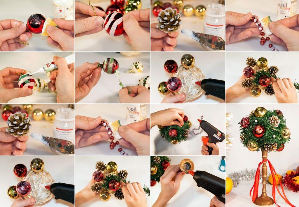 Новогоднее деревце счастья своими руками