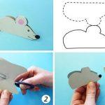 Фото 94: простая бумажная мышка