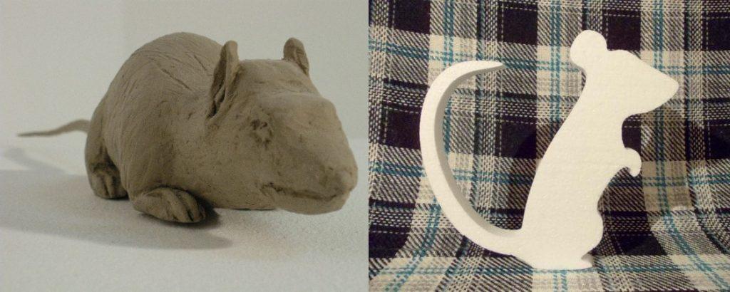 Крысы из глины и пенопласта