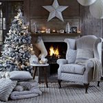 Фото 46: Серые детали в интерьере на Рождество