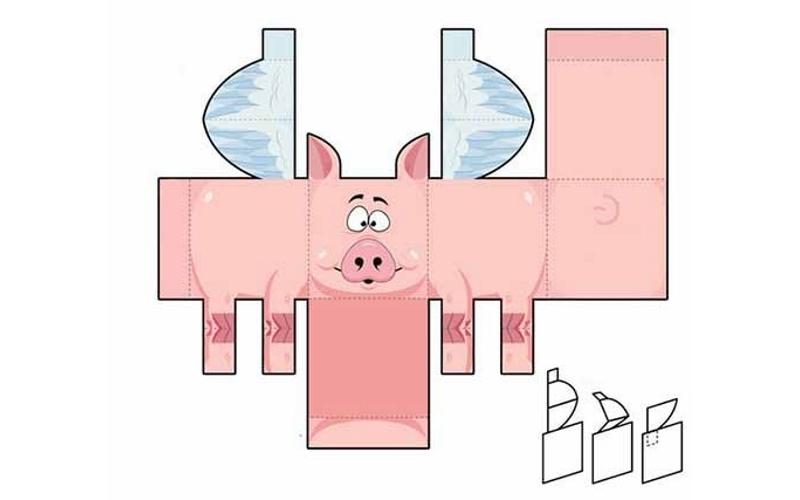 Коробочка в виде свинки