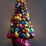 Фото 65: Елочка из шаров в горшочке